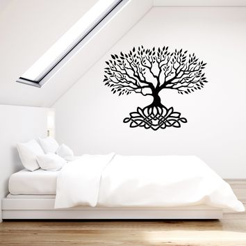 Vinyl Wall Decal Celtic Tree Knot Ornament Leaves Room Art Decoration Stickers Mural (ig5458)