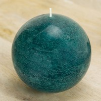 Teal Ball Candle 4""
