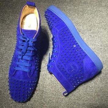 DCCK Cl Christian Louboutin Louis Spikes Style #1864 Sneakers Fashion Shoes