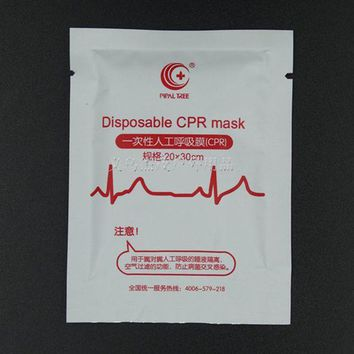 ONETOW First aid kit Supplies Medical CPR Resuscitator Mask outdoor Emergency Respirator Face Mouth Mask Disposable Safe CPR Mask