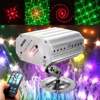 Voice Control Music Rhythm Flash Light LED Laser Projector Stage Light DJ Disco Club Dancing Party Stage Effect Lighting Quality
