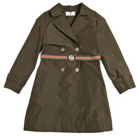 Versace Girls Military Green Trench Coat   New Collection