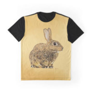 'Golden Rabbit' Graphic T-Shirt by Bamalam Art and Photography