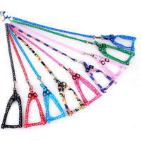 1Pc Small Dog Puppy Nylon Harness Collar and Leash