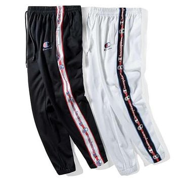 Champion autumn and winter models loose string casual couple models sports pants trousers
