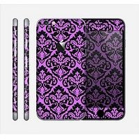 The Black & Purple Delicate Pattern Skin for the Apple iPhone 6