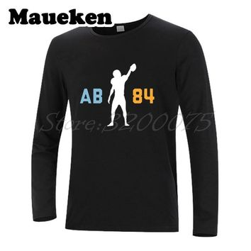 Men T-Shirt Long Sleeve  Antonio Brown 84 AB Clothes Pittsburgh Clothes T Shirt steelers Men's Autumn Winter W171065