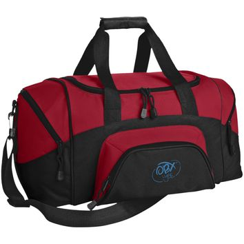 Sky Blue OBX Lyfe Port & Co. Small Colorblock Sport Duffel Bag in 10 Colors