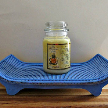 Blue Bamboo Tray - Candle Tray, Table Centerpiece, Catch All Basket