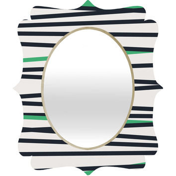 Khristian A Howell Crew Stripe Cool Quatrefoil Mirror