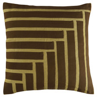 Ostend 20x20 Pillow, Brown, Decorative Pillows