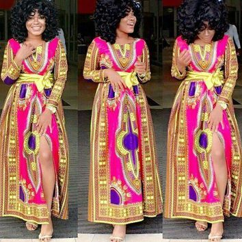 African Dashiki Dresses Riche Clothing For Women In Hot Cotton Polyester
