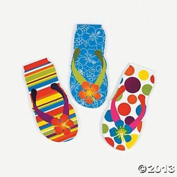 Flip Flop Notepads (24 Count)/Party Favors/SUMMER FUN/Goody Bags