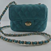Turquoise Chill Clutch Bag