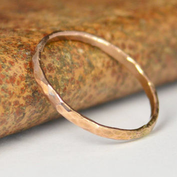 Classic Solid 14K Rose Gold Stacking Ring, Gold Band, Rose Gold Ring, Solid Gold Ring, 14k Rose Gold Ring, Real Gold Ring