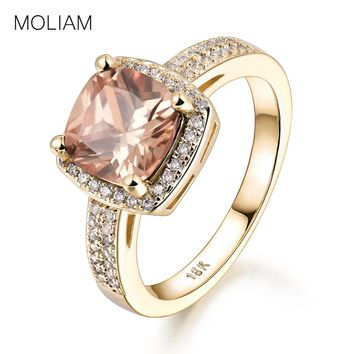 MOLIAM Rings for Women 2017 New Fashion Purple/Orange Crystal Cubic Zirconia Engagement Ring Jewelry Accessories MLR350/MLR351
