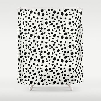 Shower Curtain - Dalmatian Print - Black and White Shower Curtain - Teen Shower Curtain - Girls Shower Curtain - Bathroom Decor - Gift Ideas