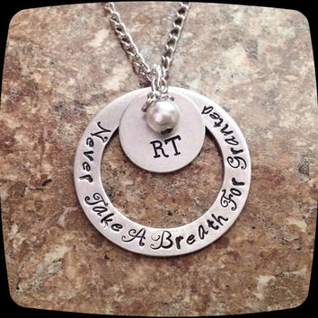 RT, RRT, Respiratory Therapist, Breathing Therapy Staff, Rehab Office Professional Jewelry Necklace, Hospital Gift