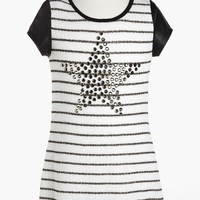 Kiddo Stripe Studded Star Dress (Little Girls & Big Girls) | Nordstrom