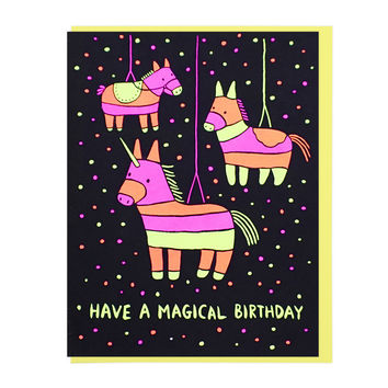 Magical Birthday Piñata Greeting Card