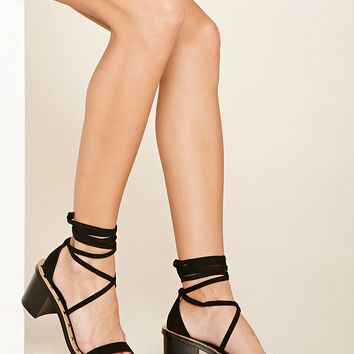 Studded Lace-Up Heels