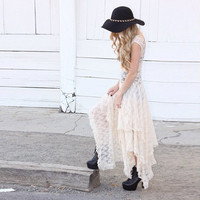 Luxurious Lace Ruched Irregular Long Prom Party Dress