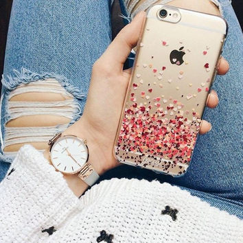 Romantic Clear Daisy dandelion Butterfly Heart Pattern Cases For Apple iphone 6 6s/plusTransparent Soft Plastic Fonda Case Cover