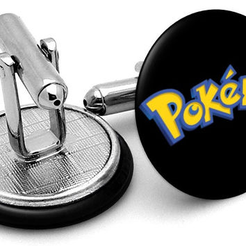 Pokemon Logo Cufflinks