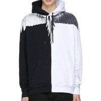 Marcelo Burlon black and white wings even hats couple sweater