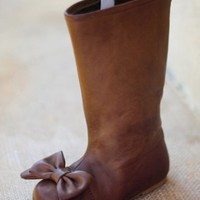 Girls Couture Brown Bow Boot Size 12 & Youth 6 Available ONLY! Now in Stock! - Infant Girls Clothing