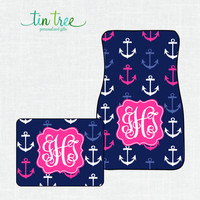 Personalized Car Floor Mats- Anchors