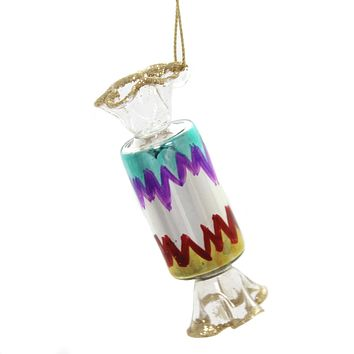 Holiday Ornaments WRAPPED CANDY. Glass Christmas Ta273s Zig Zag