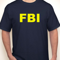 FBI police/secret service security/prison military navy two-sided T-shirt S-5XL