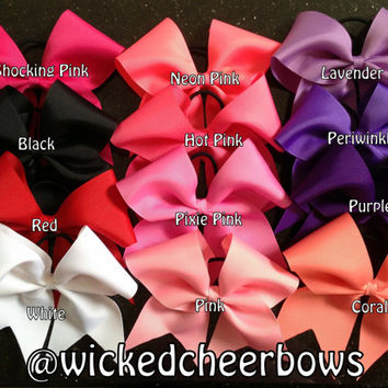 Cheer Bow - 39 Different Colors Available