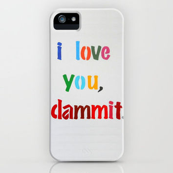 I Love You, Dammit. iPhone Case by Jackie Phillips | Society6
