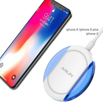 Fast Higher Compatibility Universal Wireless Charger  for iPhone 8 and iPhone X Samsung Galaxy with QI System Cool