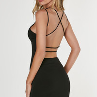 Cross My Heart Open Back Dress