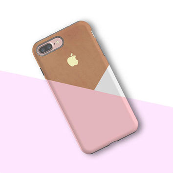 iPhone 7 case Gift iPhone 7 plus case Galaxy S8 case Galaxy S7 edge S6 Galaxy Note 5 Tough Snap Case Pastel Pink 016