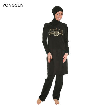 YONGSEN Muslim Swimwear Islamic Swimsuit For Women Hijab Swimwear Full Coverage Swimwear Muslim Swimming Beachwear Swim Suit