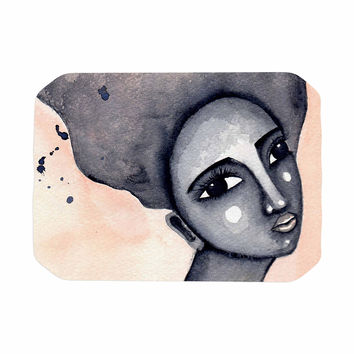 """Stacey-Ann Cole """"Yearning African American Art"""" Beige Black Place Mat"""