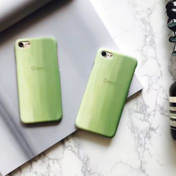 Fashion Gradient green  plastic Case Cover for Apple iPhone 5s 5 6 Plus 6 -05011