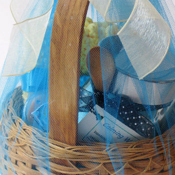 Bath & Body Calming Water Spa Gift Basket, Woman's Gift, One of a Kind