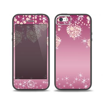 The Pink Sparkly Chandelier Hearts Skin Set for the iPhone 5-5s Skech Glow Case
