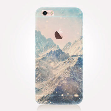 Transparent Mountains iPhone Case - Transparent Case - Clear Case - Transparent iPhone 6 - Samsung S7 - Soft TPU - Gel Case - iPhone SE