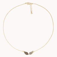 Etched Wings Necklace
