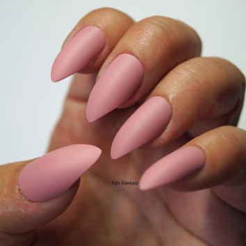 Pink stiletto nails, Nail designs, Nail art, Nails, Stiletto nails, False nails, Acrylic nails, Pointy nails, Fake nails, press on nails