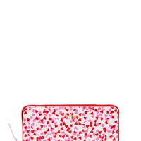 Kate Spade Secret Admirer Confetti Print Lacey Posy Red ONE