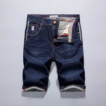 Denim Men Summer Slim Pants Elastic Plus Size Shorts [10699376323]
