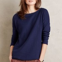 Circle Hem Pullover by Anthropologie in Navy Size: