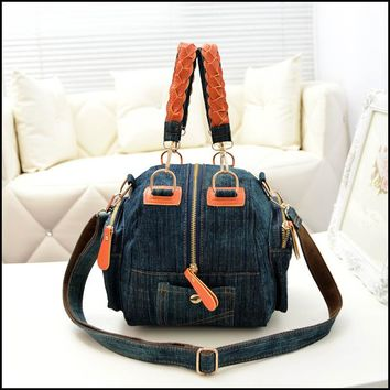 Casual women denim bag Women small shoulder bags vintage blue jeans crossbody bag ladies purse 2colors bolsa feminina